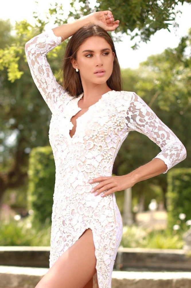 ELIAV LACE DRESS IN WHITE - 15 COLORS