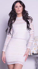 KOY BANDAGE DRESS IN WHITE