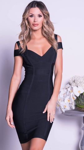BLINK JUMPSUIT IN BLACK WITH SILVER