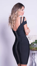 BENITA BANDAGE DRESS IN BLACK
