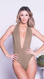 DOPHINE BODYSUIT IN ARMY GREEN