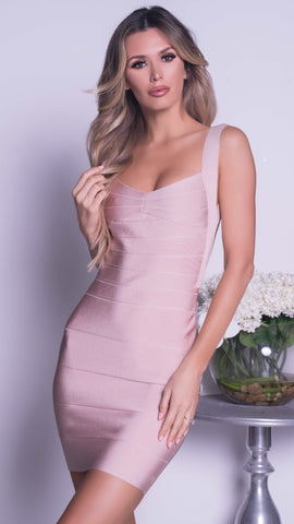 MARCY BANDAGE DRESS IN NUDE - MORE COLORS
