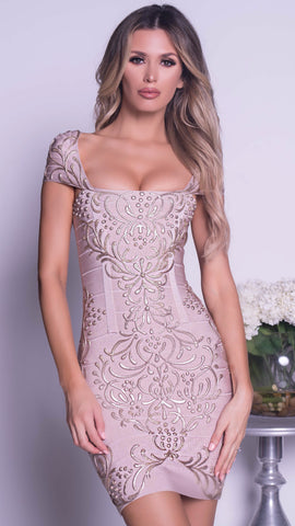 REINA DRESS IN PLATINUM