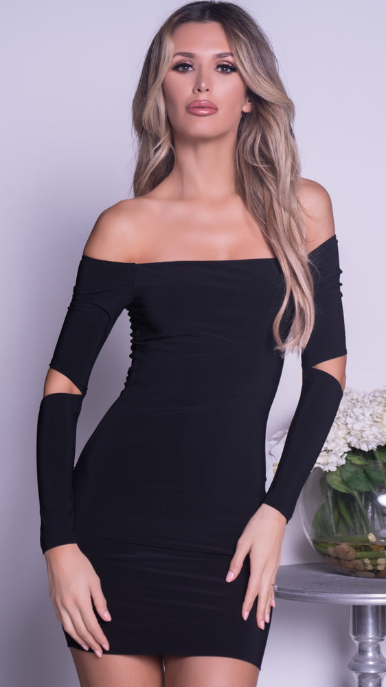KY MINI DRESS IN BLACK - 2 COLORS