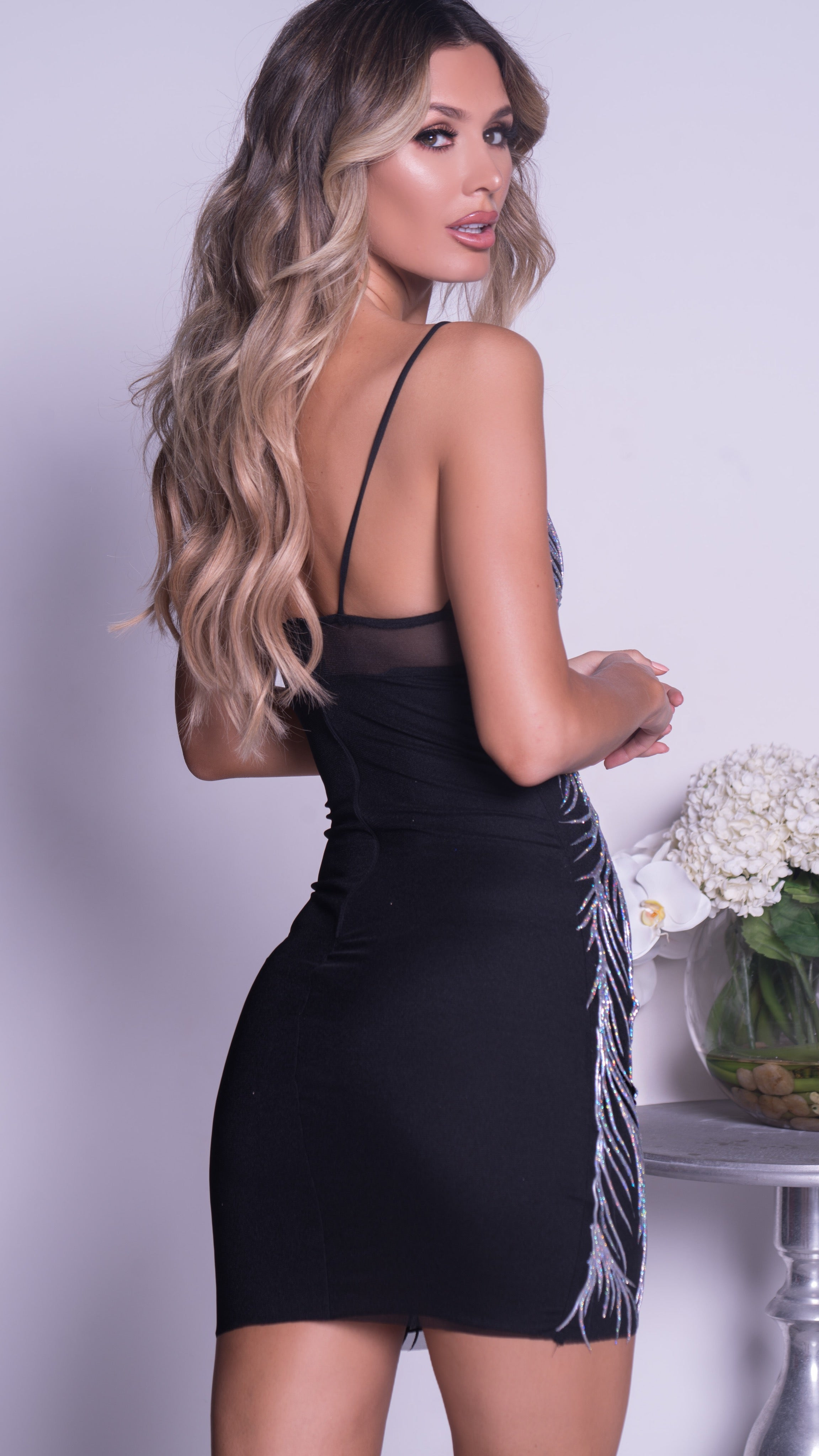 OKOLI DRESS IN BLACK WITH SILVER - MORE COLORS