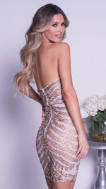 RUMY DRESS IN WHITE WITH GOLD