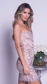 PHOEBEE DRESS IN NUDE WITH BLUSH