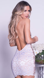 MARTINA  DRESS IN WHITE WITH SILVER