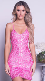 MORINE DRESS IN HOT PINK