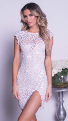 SHAKED LACE DRESS - 12 COLORS