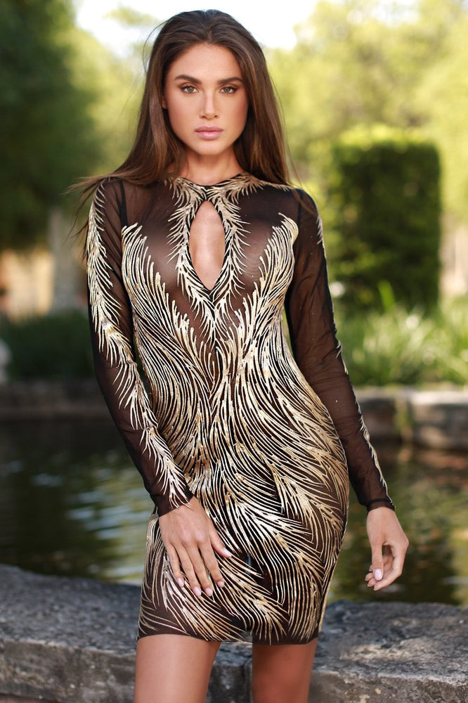 NOLAN DRESS IN BLACK WITH GOLD - 6 COLORS