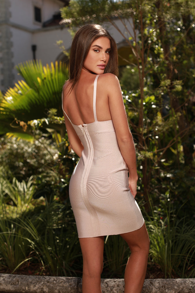 PODESTA PAINTED BANDAGE DRESS
