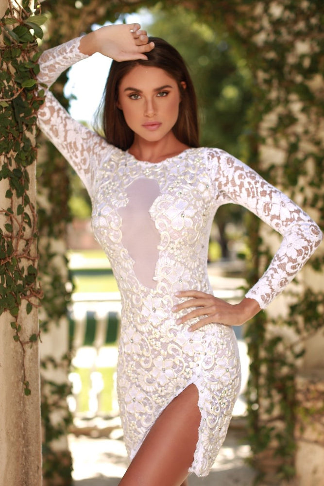 DYLA LACE DRESS IN WHITE - MORE COLORS