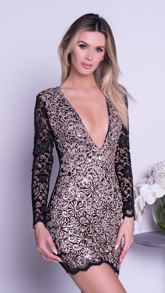 ZAHARA LACE DRESS IN BLACK - 3 FINISHES