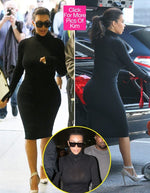 AS SEEN ON KIM KARDASHIAN  WOLF SEAMLESS IN BLACK