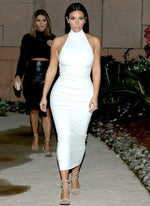 AS SEEN ON KIM KARDASHIAN - BASH MIDI IN WHITE