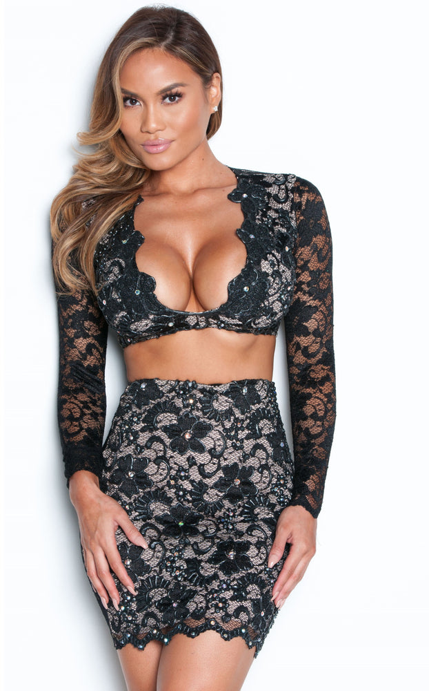 MELI TWO PIECE  IN BLACK
