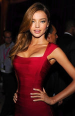 MIRANDA KERR BANDAGE IN RED