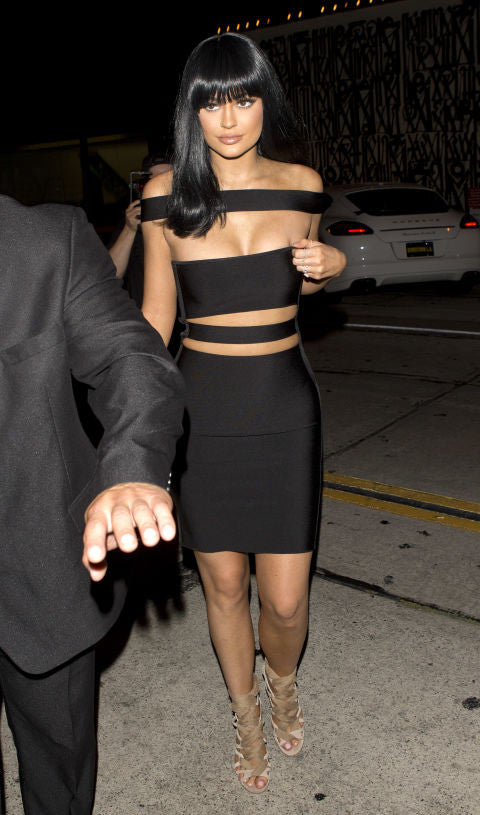 KYLIE BANDAGE IN BLACK