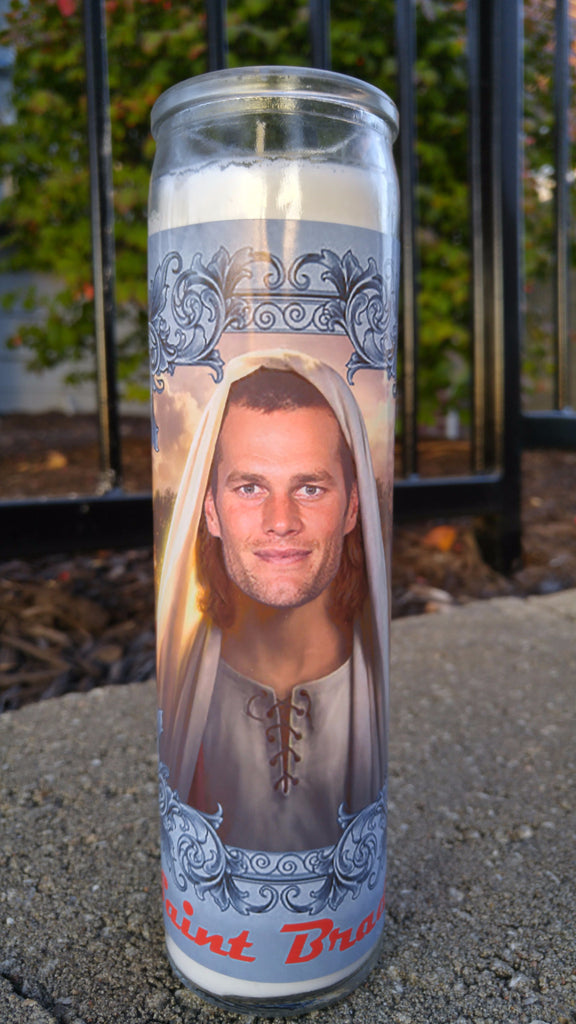 Tom Brady prayer candle
