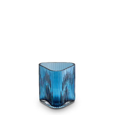 S profile vase in ink blue by Marmoset Found