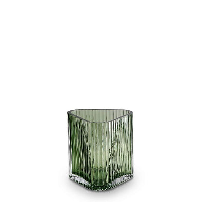 S profile vase in green by Marmoset Found