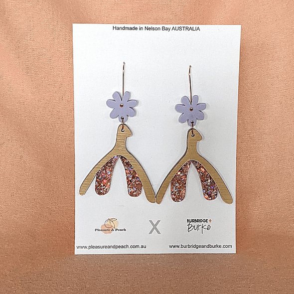 Glitter Clit Earrings (hooks) by Pleasure and Peach x Burbridge + Burke