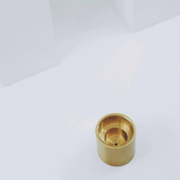 top view brass candle/incense holder