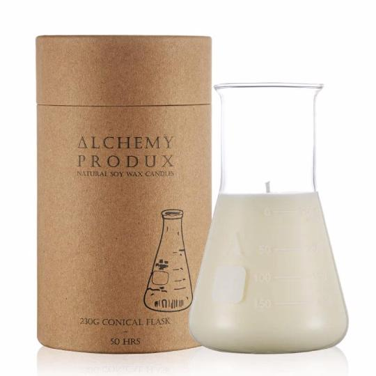 Alchemy Produx conical candle with packaging