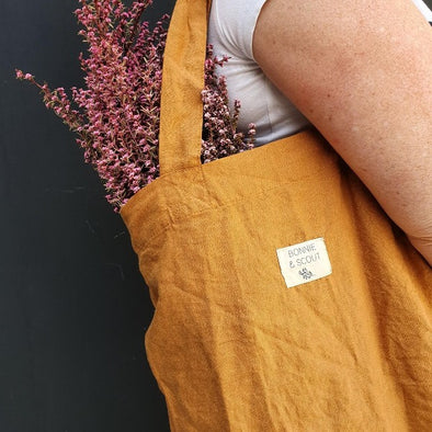 Linen Tote Bag in Clay by Bonnie + Scout