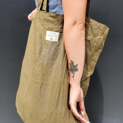 Linen Tote Bag in Olive by Bonnie + Scout