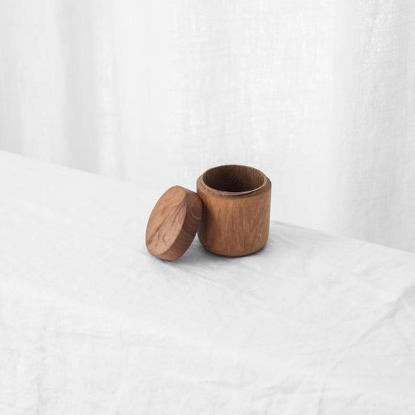 teak canister by mcmullin and co
