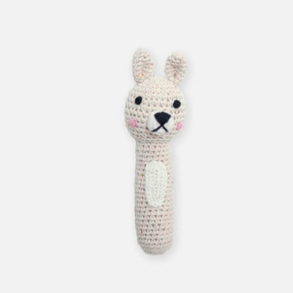 Miann & Co Hand Rattle - Biscotti Speckle Bunny