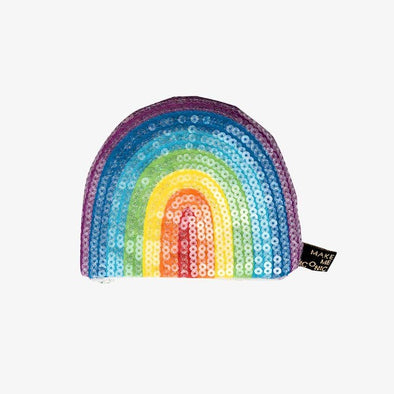 Make Me Iconic sequin rainbow purse