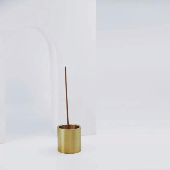 solid brass incense holder