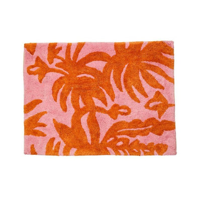 Leafy Rust Bath Mat by Bonnie and Neil