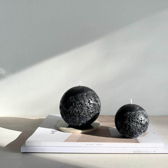 Sphere Candle in Black (S) by Candle Kiosk
