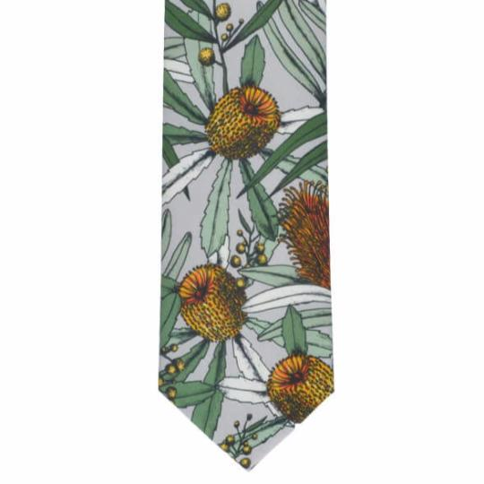 Grey Banksia Cotton Tie by Peggy and Finn