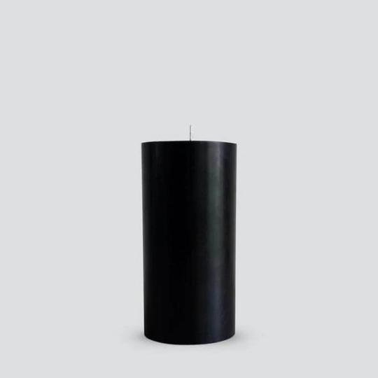 Pillar Candles in Black by Candle Kiosk