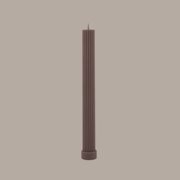 Column Pillar Candle Duo in Beige by Black Blaze