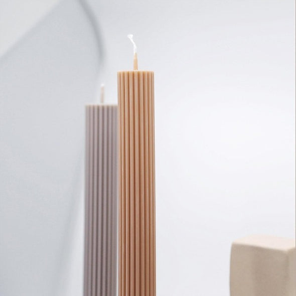 column pillar candles by black blaze
