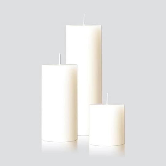 Pillar Candles in Warm White by Candle Kiosk