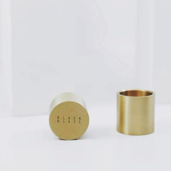 solid brass candle holder by Black Blaze
