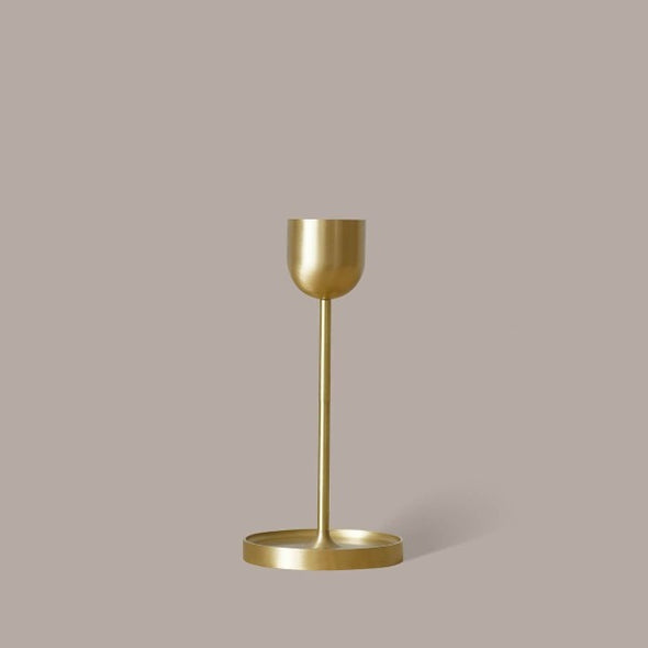 Fountain Brass Candle Holder - Large by Black Blaze