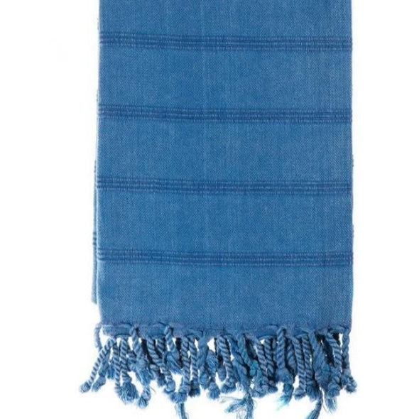 Stonewash blue Turkish towel by Miss April