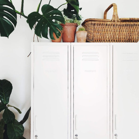 The Skinny Locker In White by Mustard Made