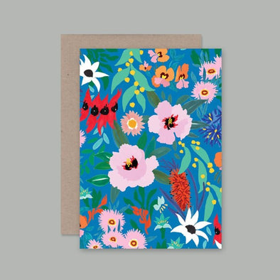 Flower Dance Card by AHD Paper Co