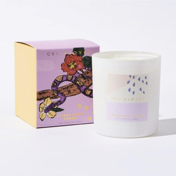 Lychee and Guava Sorbet candle by Ceilia Loves