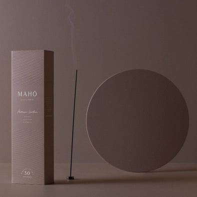 MAHO incense in artisan leather