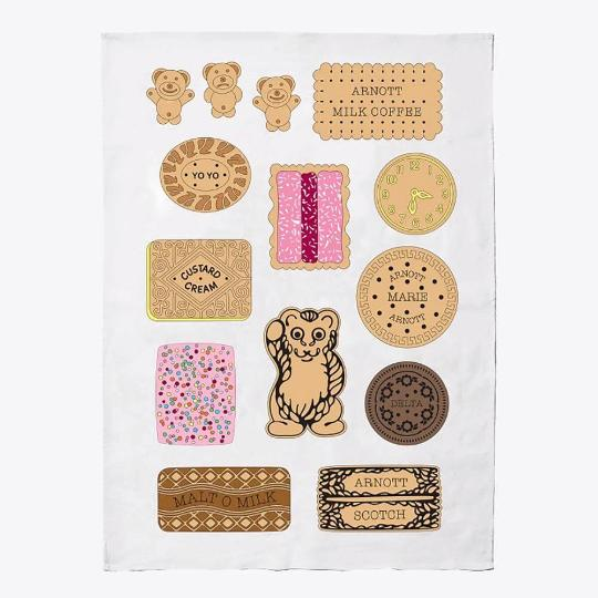 Make Me Iconic BICKIES Tea Towel